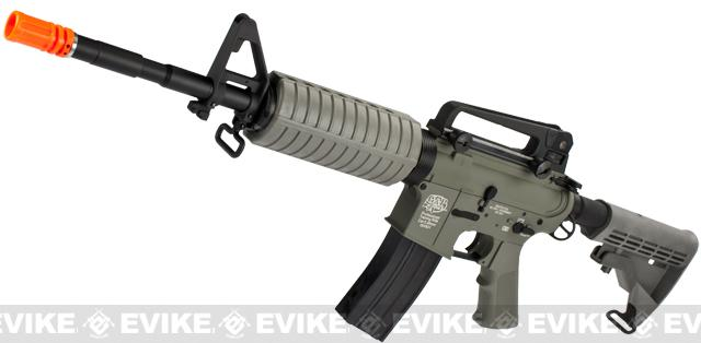 G&P M4 Carbine Full Metal Airsoft AEG Rifle w/ LE Stock - Foliage Green