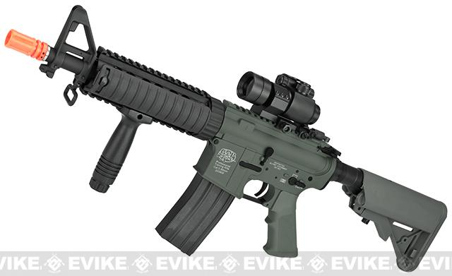 G&P M4 CQB-R Full Metal Airsoft AEG Rifle - Foliage Green