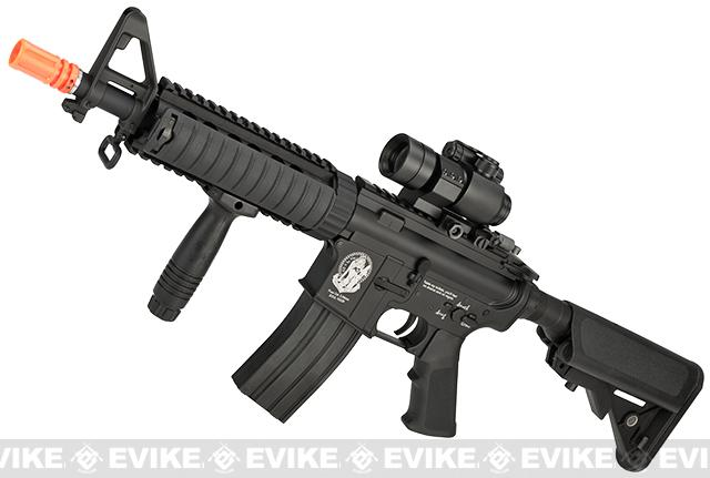 G&P M4 CQB-R Widow Maker Airsoft AEG Rifle - Black (Package: Gun Only)