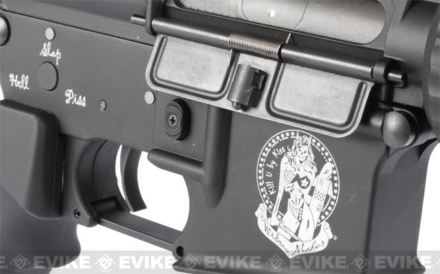G&P Tank Ultimate CQB Full Metal AEG Rifle. (Extended Stock)