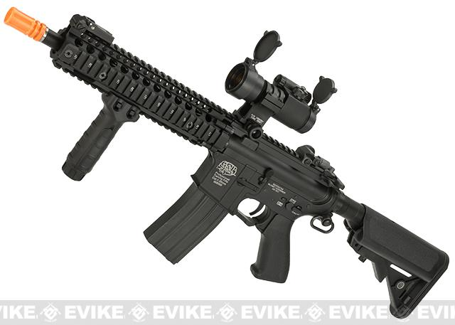 G&P Defender Full Size Airsoft Custom AEG Rifle - Black