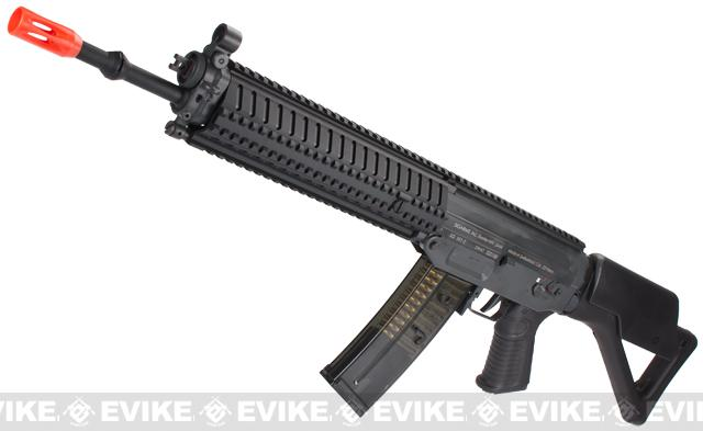ICS Full Metal SIG 551 MRS Long Barrel Airsoft AEG Rifle - Black