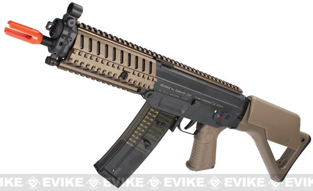 ICS Full Metal SIG 552 MRS Airsoft AEG Rifle - Dark Earth