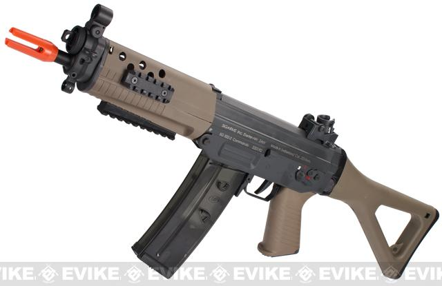 ICS Full Metal SIG 552 Commando Airsoft AEG Rifle - Dark Earth