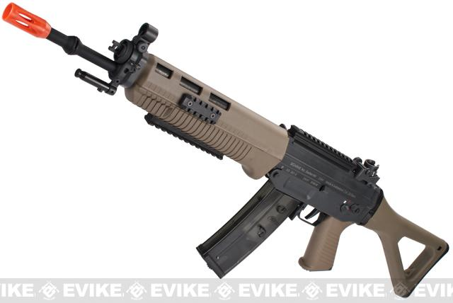 ICS Full Metal SIG 551 Long Barrel Airsoft AEG Rifle - Dark Earth