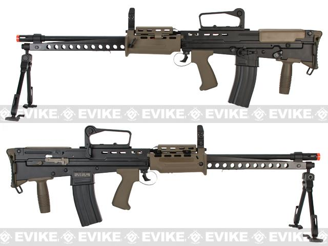 ICS Full Metal L86A2 British Military Full Size Airsoft AEG Rifle