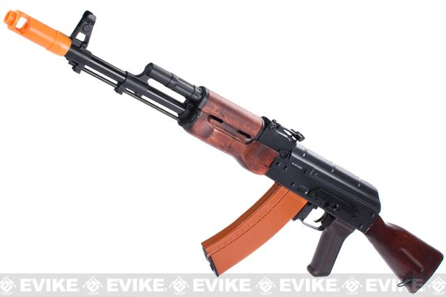 APS Full Metal AK74 Full Stock Electric Blowback Airsoft AEG Rifle w/ Real Wood Furniture