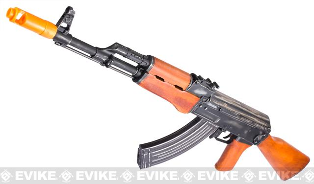 APS AK47 Battle Veteran Full Metal Electric Blowback Airsoft AEG Rifle w/ Real Wood Furniture