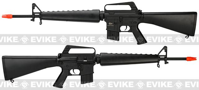 Pre-Order ETA May 2017 JG M16 Vietnam Full Size Airsoft AEG Rifle with Lipo Ready Gearbox - (Package: Add 11.1v 1600mAh LiPo Battery + Smart Charger)