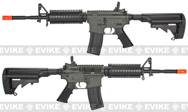 JG M4 RIS Airsoft AEG Rifle w/ Hurricane Type Crane Stock (Enhanced Li-Po Ready Upgraded Gearbox)