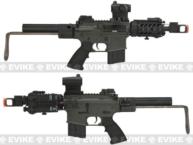 JG Tank Airsoft M4 CQB Carbine AEG - Collapsible Stock