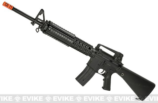 Full Size JG DMR M16 with Full Length RIS Hand Guard - Black