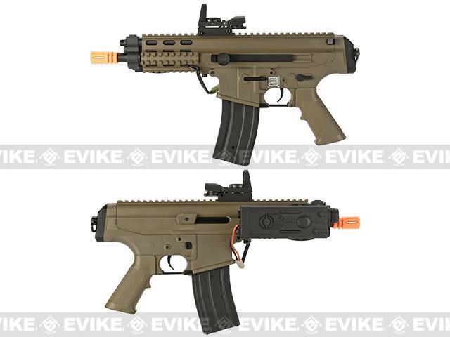 Echo1 Fully Licensed Robinson Armament Polymer XCR-P Airsoft AEG Rifle / AR Pistol - Tan