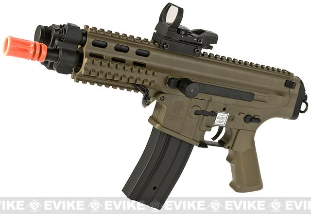 Echo1 Fully Licensed Robinson Armament Polymer XCR-P Airsoft AEG Rifle / AR Pistol (Color: Tan)