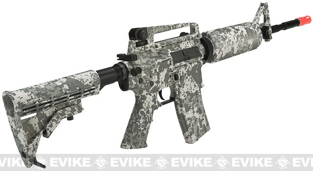 z King Arms Full Metal Colt Licensed Advanced M4A1 Carbine Airsoft AEG Rifle w/ ACU Watertransfer