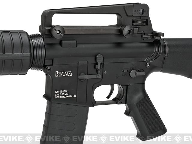 KWA Full Metal 2GX 9mm Gearbox KM16BR Airsoft AEG - (Package: Add 11.1v 1600mAh LiPo Battery + Smart Charger)