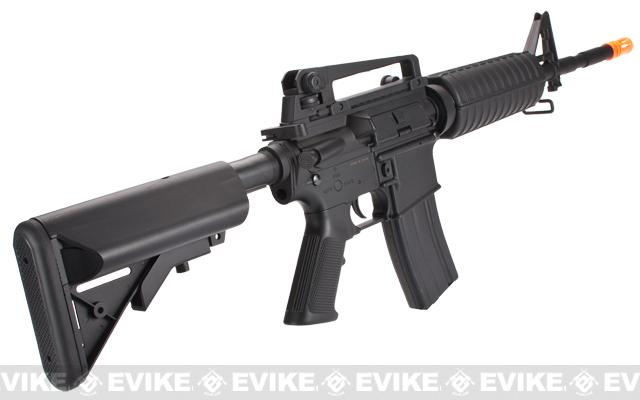 Lancer Tactical M4 Crane Airsoft AEG Rifle - Black