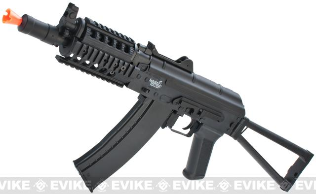 Lancer Tactical AK74U RIS Airsoft AEG Rifle - Black
