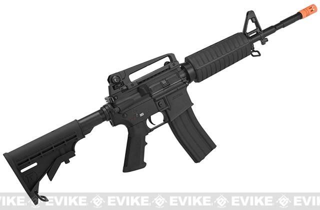 G&G Full Metal M4 Carbine Airsoft AEG Rifle w/ LE Stock - Black (Package: Add 9.6 Butterfly Battery + Smart Charger)