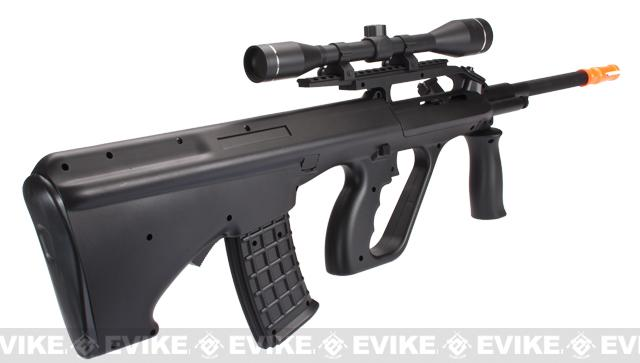 z DE / RISE Full Size Entry Level AUG Airsoft AEG Rifle w/ Battery, Scope & Charger