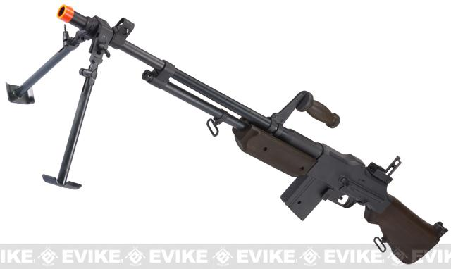 BAR M1918 A2 Full Size Full Metal Airsoft AEG Rifle w/ Steel Bipod by Matrix (Furniture: Imitation Wood)