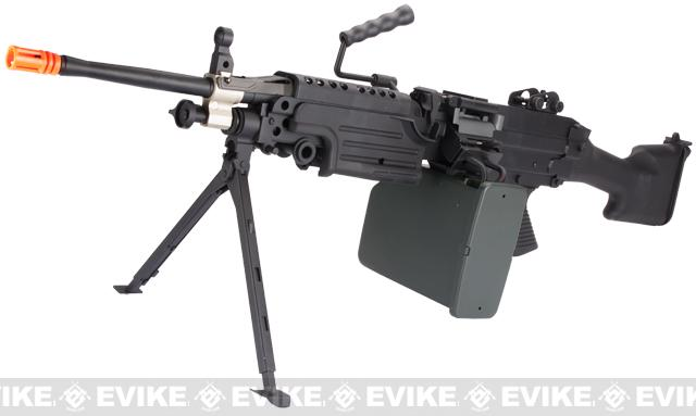 A&K Full Metal M249 MK II SAW Airsoft AEG w/ Electric Drum Mag