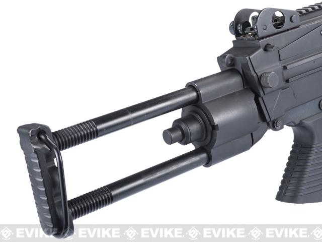 A&K Full Metal M249 Para Trooper SAW Airsoft AEG w/ Electric Drum Mag