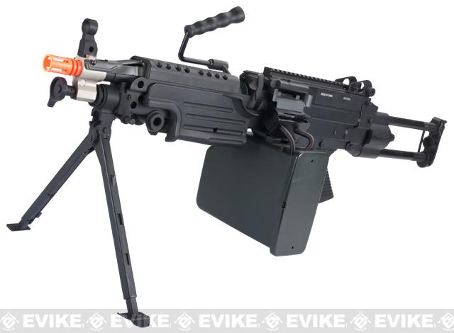 A&K Full Metal M249 Para Trooper SAW Airsoft AEG w/ Electric Drum ...