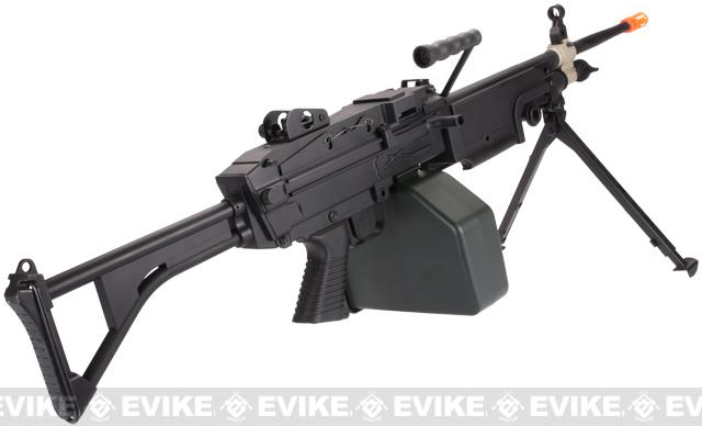 A&K Full Metal M249 MK-I SAW Airsoft AEG w/ Electric Drum Mag