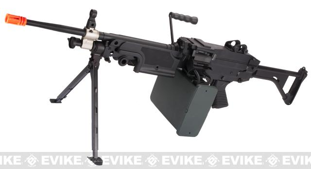 A&K Full Metal M249 Airsoft Machine Gun (Version: MK-I SAW / Black / AEG)