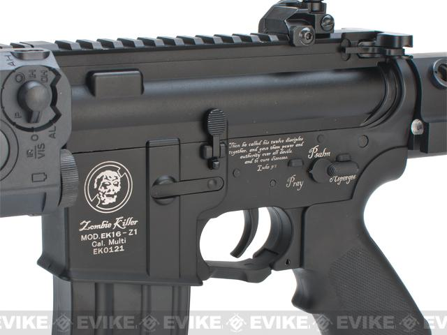 Bone Yard - Matrix Full Metal Zombie Killer M4 CQB AEG w/ Retractable Stock (Store Display, Non-Working Or Refurbished Models)