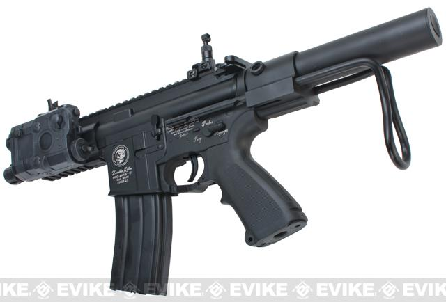 Matrix Full Metal Zombie Killer M4 CQB Airsoft AEG Rifle w/ Retractable Stock by JG