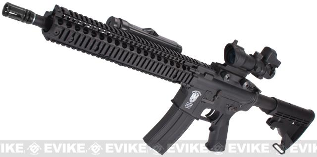 z Evike Custom Matrix AIM M4 Airsoft AEG Rifle - Daniel Defense RISII 12 / Black