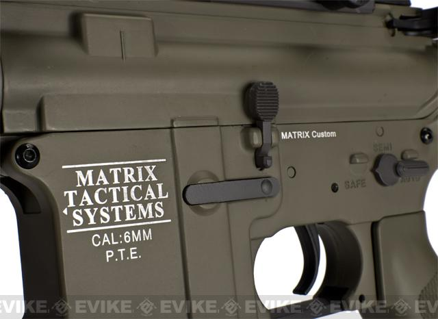 Matrix Pro-Line Lipo Ready 8mm Gearbox Full Metal M4 Carbine Airsoft AEG (390~450 FPS) - Desert