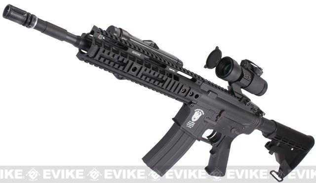 z Evike Custom Matrix AIM M4 Airsoft AEG Rifle - Noveske 10 / Black