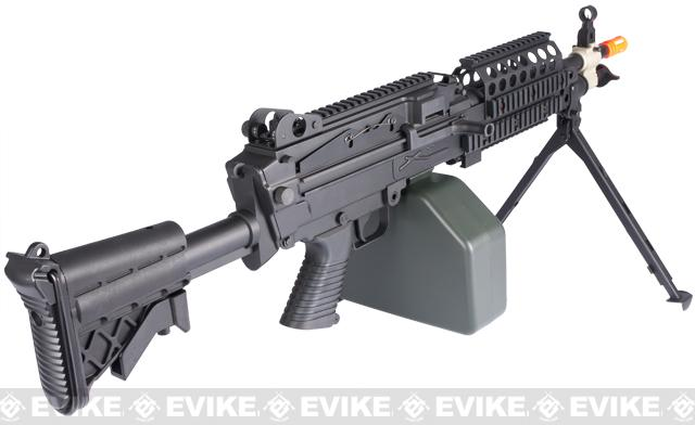 A&K Full Metal MK46 Airsoft Machine Gun with Retractable Stock