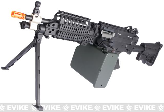 A&K / Matrix Full Metal MK46 Airsoft Machine Gun with Retractable Stock by A&K