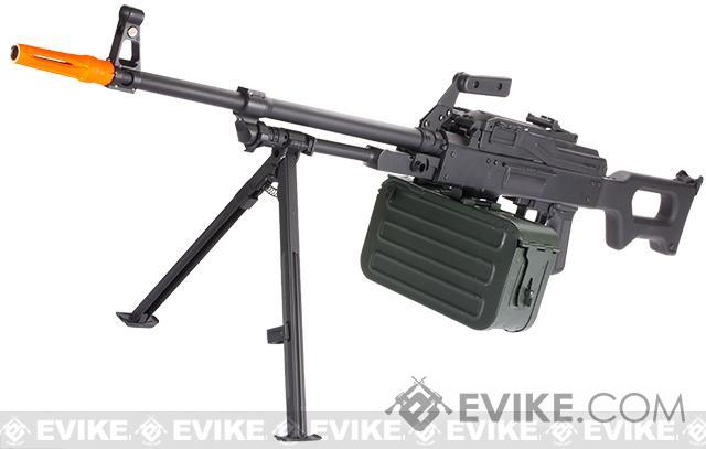 Matrix PKM Russian Battlefield Squad Automatic Weapon Airsoft Machine Gun - Black
