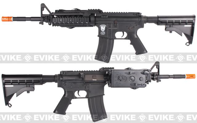 Evike Class I Custom Matrix AIM M4 RASII Airsoft AEG Rifle - Black