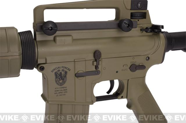 z Matrix AIM Top Custom Lipoly Ready 8mm Gearbox M4 Airsoft AEG Player Package - Tan