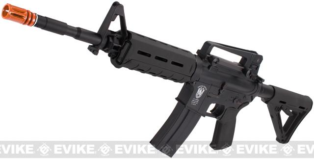 Matrix AIM Top Custom Lipoly Ready 8mm Gearbox M4 MOE Carbine Airsoft AEG - Black