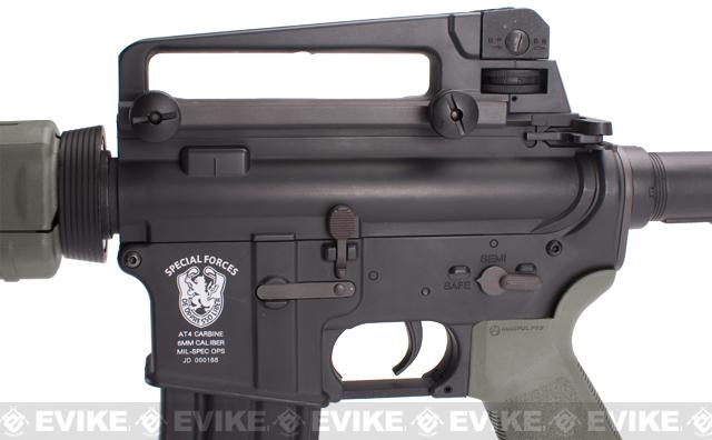 z Matrix AIM Top Custom Lipoly Ready 8mm Gearbox M4 MOE Carbine Airsoft AEG - Foliage Green