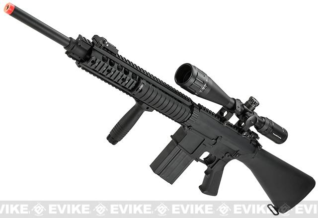 Pre-Order ETA October 2015 Matrix Custom Full Metal SR-25 Airsoft AEG Sniper Rifle by A&K