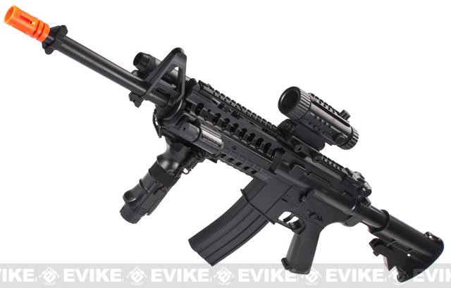 z Firepower M4 Carbine F4-D Full Auto Airsoft Low Power AEG Rifle Package