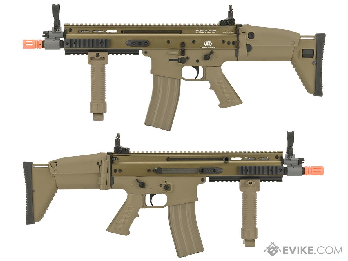 FN Herstal Licensed Full Metal SCAR CQB Airsoft AEG Rifle by G&G - Tan (Package: Gun Only)