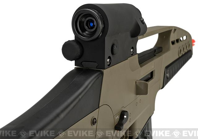 SRC SM8 Airsoft AEG Rifle w/ Two Hi-Cap Mags - Desert Tan