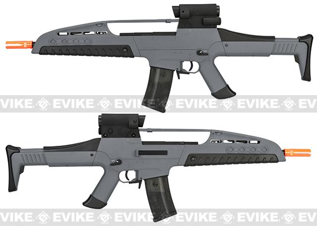 Pre-Order ETA April 2017 SRC SM8 Airsoft AEG Rifle w/ Two Hi-Cap Mags - Gray