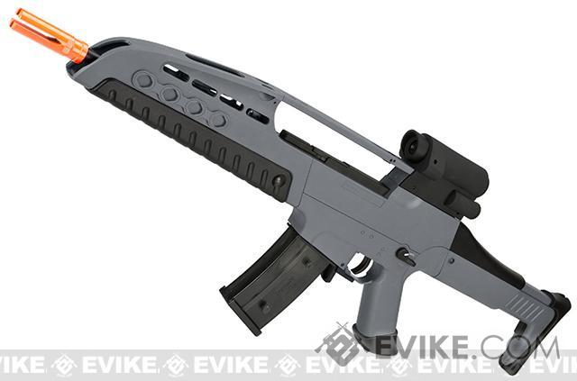 SRC SM8 Airsoft AEG Rifle w/ Two Hi-Cap Mags - Gray