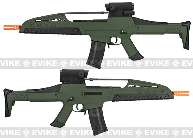 Pre-Order ETA August 2016 SRC SM8 Airsoft AEG Rifle w/ Two Hi-Cap Mags - OD