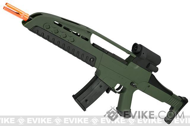 SRC SM8 Airsoft AEG Rifle w/ Two Hi-Cap Mags - OD